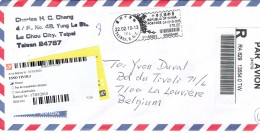 Registered Letter From Lu Chou City Taipei Taiwan Rep Of China To La Louvière Belgium (2010) - Poste Aérienne