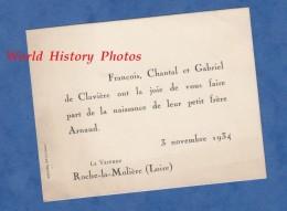 Faire Part De Naissance - LA VARENNE Par ROCHE LA MOLIERE ( Loire ) - François Chantal & Gabriel De CLAVIERE - Nov 1934 - Non Classés