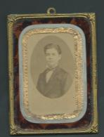 Dans 1 Cadre Métallique Doré  Format  9 X 12 Cm 1 Photo  Signée Albert Langlois Tours - Pb107 - Anciennes (Av. 1900)