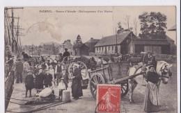 Carte 1908 PAIMPOL / RETOUR D´ISLANDE -DECHARGEMENT D'UN  NAVIRE (terre Neuvier,très Animée) - Paimpol