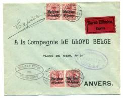 Belgique - COB OC3 (4x, 2 Paires) Sur Lettre De Turnhout à Anvers - 1916 - [OC1/25] General Gov.