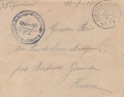 Lettre De Amberg (Allemagne) Pour  Merignac ( France) - 1916 - 3 Scan