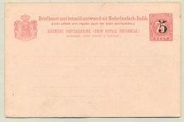 Nederlands Indië - 1908 - 5+5 Cent Op 7,5+7,5 Cent Opdruk Briefkaart G19b - Ongebruikt - Nederlands-Indië