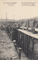 CPA - Beuvraignes - Tranchée De 1ére Ligne Avec Fils De Fer Barbelés - Beuvraignes