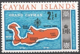 Cayman Islands. 1969 Definitives. 2½d MH. SG 225 - Cayman Islands
