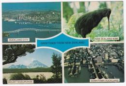 New Zealand: Auckland City, New Zealand Kiwi, Mount Ngauruhoe & Downtown Auckland - Nieuw-Zeeland