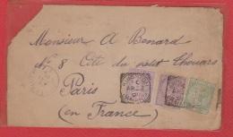 Jamaique  -- Face Avant De Kingston  --  Pour Paris  14 Mai 1891 - Jamaica (1962-...)