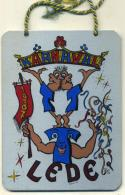 Lede - Carnaval Plaquette In Metaal - Origineel - Nieuwstaat - Karnaval Lede 1987 - Carnaval
