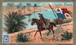 Chromo Chocolat KLAUS - FACTEUR, Poste, Timbre, Philatélie, Drapeau - Pays PANAMA - Chocolat