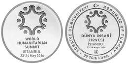 AC - WORLD HUMANITARIAN SUMMIT COMMEMORATIVE SILVER COIN TURKEY 2016 PROOF - UNCIRCULATED - Turchia