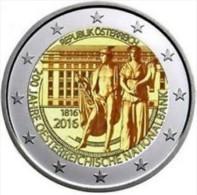 Oostenrijk  2016    2 Euro Commemo 200 Jaar Nat. Bank      UNC Uit De Rol  UNC Du Rouleaux !! - Autriche