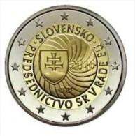 Slovakije 2016 2 Euro Comm. Voorzitterschap Van EU - Conseil De L'Union Européenne UNC Uit De Rol - Du Rouleaux !! - Slovaquie