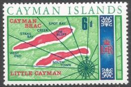 Cayman Islands. 1969 Definitives. 6d MH. SG 228 - Cayman Islands