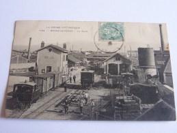 BOURG DE PEAGE LA GARE TRAINS WAGONS ANIMEE CPA 1906 - France