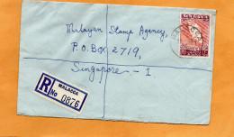 Malacca Malaysia 1961 Registered Cover Mailed - Malaysia (1964-...)