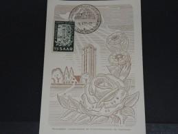 SARRE - Carte Maximum - Juin 1951 - A Voir - P18589 - Cartes-maximum