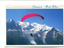 Cp - PARACHUTE - Parapente Chamonix Mont Blanc (74) - - Paracaidismo