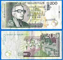 Maurice 200 Rupees 2013 Prefix BR Roupies Mauritius Island Paypal Skrill Bitcoin OK - Maurice
