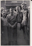 HISTORY, WW2, ADOLF HITLER WITH WORKERS GROUP, ALBUM NR 15, GROUP NR 64, IMAGE NR 82 - Histoire