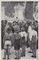 HISTORY, WW2, ADOLF HITLER AND OFFICERS MEETING CHILDRENS, GERMANY AWAKENS ALBUM 8, GROUP 32, IMAGE NR 201 - Histoire