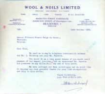 Factuur Facture - Wool & Noils Limited - Bradford England - 1969 - Royaume-Uni