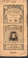 """Carte Michelin """"à La Roue Ailée"""" N°26 LA ROCHELLE (1) (F.6090) - Cartes Routières"""