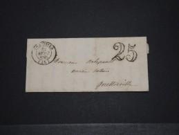 FRANCE - Marque Postale 25 C - Sept 1850 - A Voir - P18596 - 1701-1800: Précurseurs XVIII