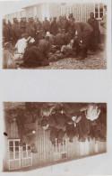 CP Photo Double 14-18 Camp De Prisonniers D´OHRDRUF - Blessés De Guerre, Im Lager, Gefangene (A144, Ww1, Wk 1) - Guerre 1914-18