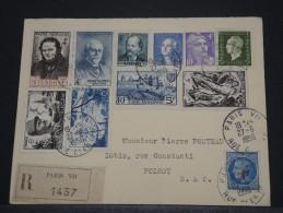 FRANCE - Env Recommandée Pour Poissy Joliment Affranchie Recto Et ... Verso - Juin 1956 - A Voir - P18599 - 1921-1960: Modern Period