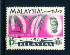 Malaysian States - Kelantan 1965 Orchids - 15c Value Used (SG 108) - Kelantan