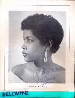 Handtekening Autographe Jazz Singer Chanteuse Cecily Forde - Page Programme - Autographes