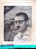 Handtekening Autographe Jazz - Sax - Guy Lafitte  - Page Programme - Autographes