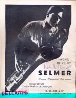 Handtekening Autographe Jazz - Sax - Michel De Villers - Page Programme - Instrument Selmer - Autographes