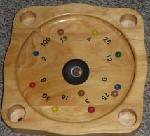 Rare Jeu De Toupie WOODEN Roulette Avec Bille Et Plateau En Bois, Arène, Jouet, Roulette Tyrolienne - Group Games, Parlour Games