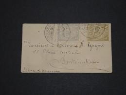 LUXEMBOURG - Env (petit Format 9.5 X 5.5) Pour La France - Dec 1908 - A Voir - P18604