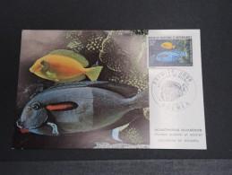 NOUVELLE CALEDONIE - Aquarium De Nouméa - Juin 1973 - A Voir - P18608 - Cartes-maximum