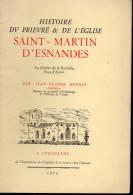 Tiré à Part:histoire Du Prieuré Et De L'église De SAINT MARTIN D'ESNANDES (charente Maritime)  1976 (F6114) - Dépliants Touristiques