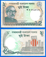 Bangladesh 2 Taka 2011 Neuf UNC Que Prix + Port Billet Banknote Paypal Skrill Bitcoin OK - Bangladesh