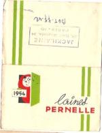 CALENDRIER LAINES PERNELLES 1954. JACKILAINE BOULEVARD MAGENTA PARIS - Calendriers