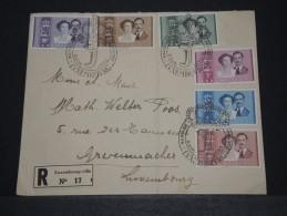 LUXEMBOURG - Env Recommandée Commémorative Du Mariage Princier - Avril 1953 - A Voir - P18616