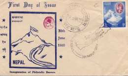 NEPAL 1960 - Erstagbrief Mit 10 P Marke Nepal - Nepal