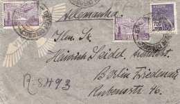 BRASIL 1938 - 700 + 2 X 3000 Reis Auf FP.Brief Gel.v.Brasil Nach Berlin - Briefe U. Dokumente
