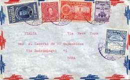 VENEZUELA - Alter LP-Brief Mit 5 Fach Frankatur Gel.v.Venezuela > Rom - Venezuela