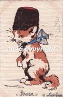 GATTO-GATTI-KAZZE-CHAT-CAT-DIPINTA A MANO-PEINTE A LA MAIN-ILL.CASTELLI-VG 18 APRILE 1916 -OTTIMA CONSERVAZIONE-2 SCAN- - Cats