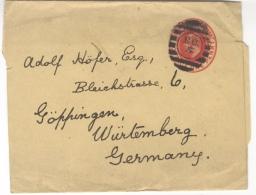 G54 Grossbritannien England Ganzsache Streifband Gest. Ca 1902 Echt Gelaufen Nach Göttingen Postage One Penny