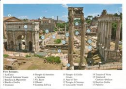 Il Foro Romano, Details Historiques. Roma . Carte Postale Neuve Non Circulée - Other Monuments & Buildings