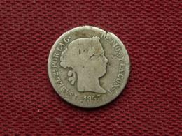 ESPAGNE Rare Monnaie De 2 Réales 1857 - Espagne