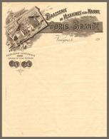 Ancienne Facture Lettre 189?, Brasserie Goris-Brandt, Vesaignes-sur-Marne, Bière - Alimentaire