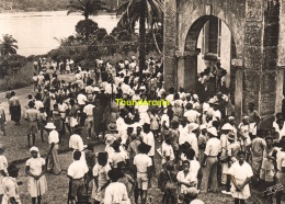 CPSM EDEA CAMEROUN LA MISSION SORTIE DE MESSE - Cameroun