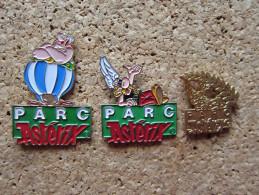 LOT DE 3 PINS PARC ATTRACTION ASTERIX OBELIX - Disney